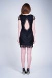 Oliell Lace Short Dress Black - Dry Lake