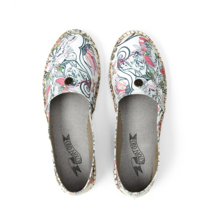 Oddspadrillos Printed Light Chalk - Odd Molly