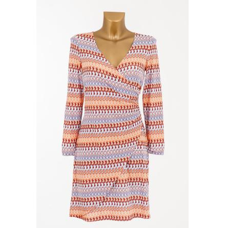 Easy Wrapped Jersey Dress Orange - Pernilla Wahlgren