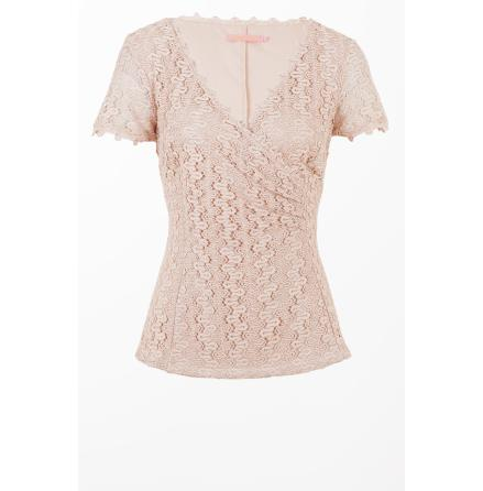 Crochet Lace Top Powder Pink - Pernilla Wahlgren