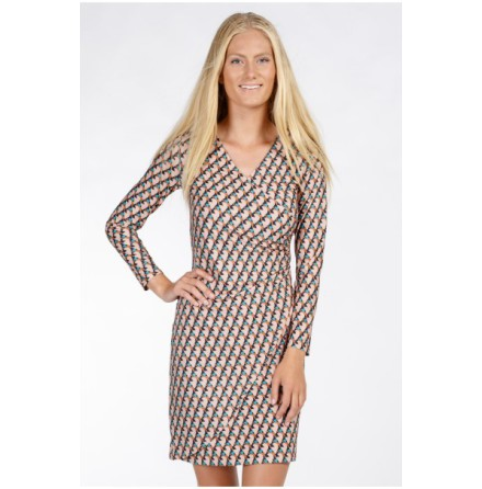Easy Wrapped Jersey Dress Dark Nude - Pernilla Wahlgren