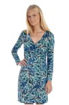 Easy Wrapped Jersey Dress Blue - Pernilla Wahlgren