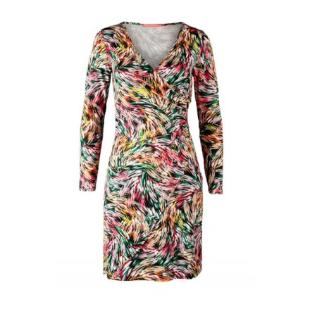 Easy Wrapped Jersey Dress Multi - Pernilla Wahlgren