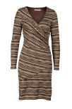 Wavy Wrap Knit Dress Brown - Pernilla Wahlgren