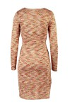 Wavy Wrap Knit Dress Warm Pink - Pernilla Wahlgren
