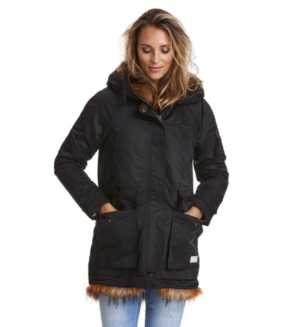 Storms Eye Parka Almost Black - Odd Molly