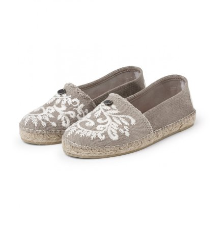 Oddspadrillos Embroidered Linnen - Odd Molly