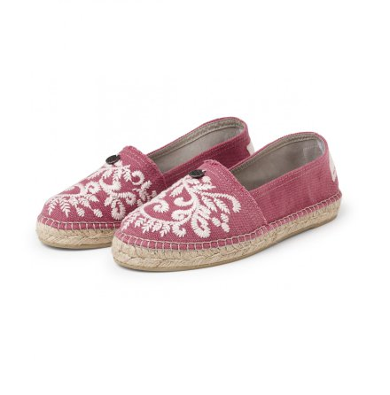 Oddspadrillos Embroidered Misty Pink - Odd Molly
