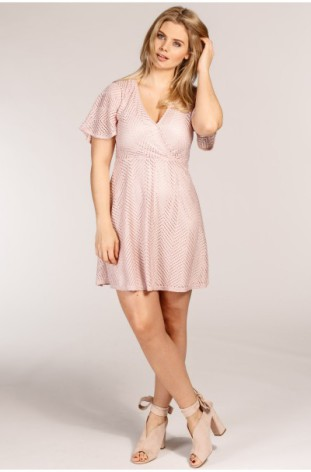 April Wrapped Dress Pink - Pernilla Wahlgren