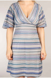 Kellie Metallic Dress Blue Silver - Pernilla Wahlgren
