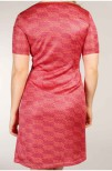 Holly Pleated Knit Dress Pink Coral - Pernilla Wahlgren