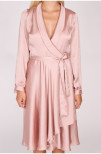 Brooke Wrap Dress Dusty Rose - Suzanne Nilsson