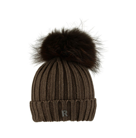 Hat Pom Pom Beanie Dark Brown - RockandBlue