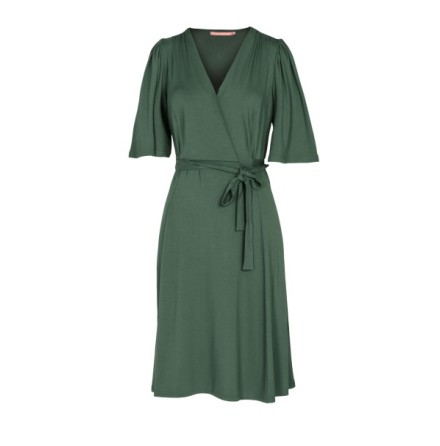 Rosetta Jersey Dress Dark Green - Pernilla Wahlgren