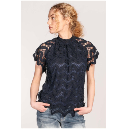 Gamila Top Navy - Suzanne Nilsson