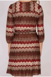 Hayden Wrap Knit Dress Brown/Red - Pernilla Wahlgren
