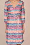 Joline Wrap Knit Dress Pink - Pernilla Wahlgren