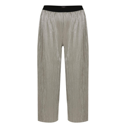 Iris Metallic Culotte Pants Silver Metallic - Soaked in Luxury