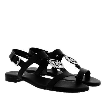 Beth Leather Sandal Black - Michael Kors