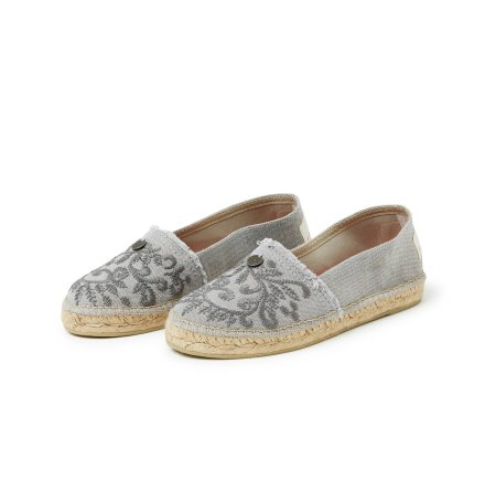 Oddspadrillos Embroidered Light Grey - Odd Molly