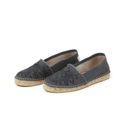 Oddspadrillos Embroidered Asphalt - Odd Molly