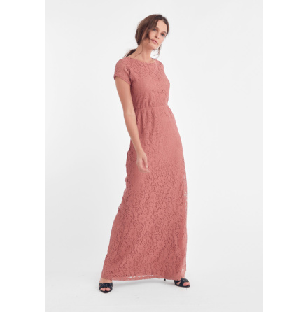 Mira Long Dress, Dull Pink - Dry Lake
