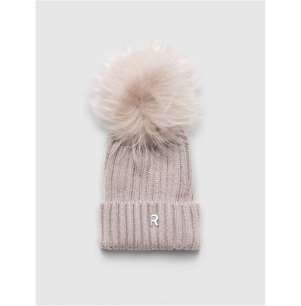 Hat Pom Pom Beanie Light Beige/Light Beige - RockandBlue