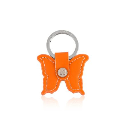 Nyckelring Leather Butterfly Orange - Carolina Gynning