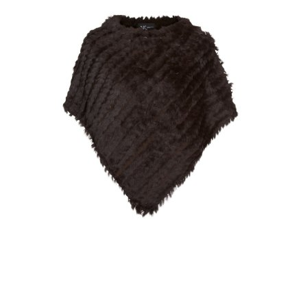 Molly Poncho, Dark Brown - NATURES Collection