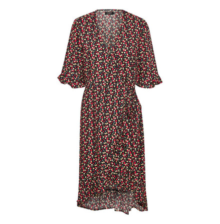Pernille Flower Wrap Dress - Soaked in Luxury