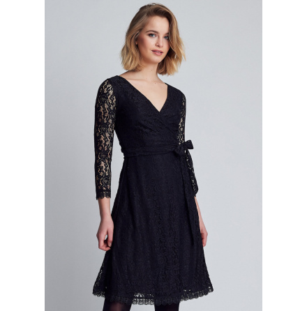 Joni Wrap Dress, Black - Dry Lake