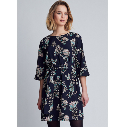 Katie Dress, Flowery Print - Dry Lake