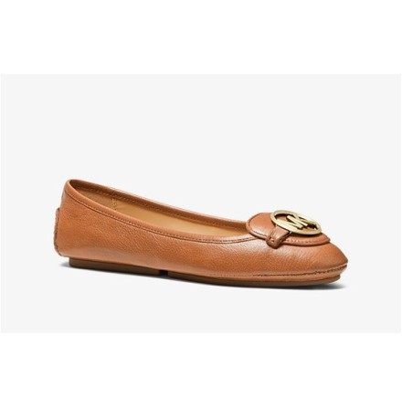 Lillie Leather Moccasin, Acorn -  Michael Kors