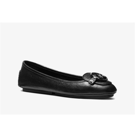 Lillie Leather Moccasin, Black -  Michael Kors