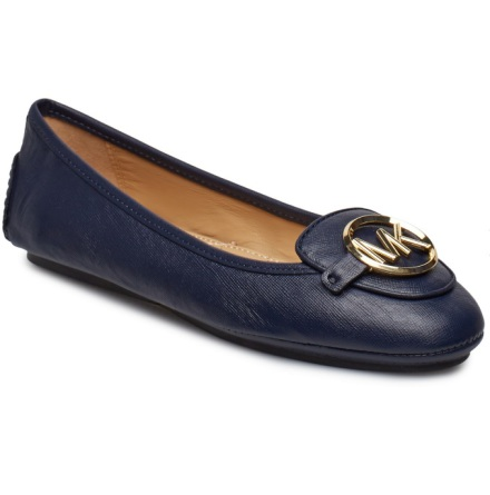 Lillie Leather Moccasin, Admiral -  Michael Kors