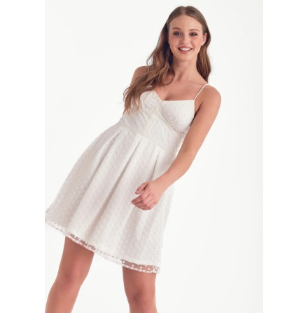 Lydia Dress, White - Dry Lake