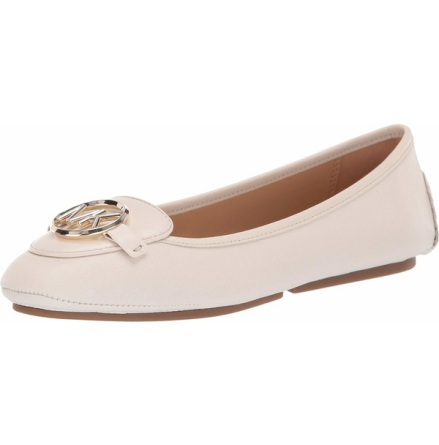 Lillie Leather Moccasin, Lt Cream - Michael Kors