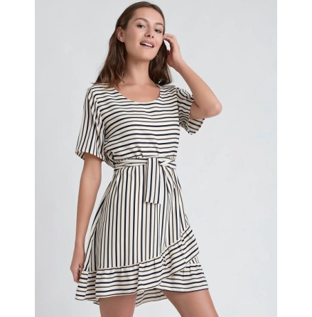 Bia Dress, Stripe - Dry Lake