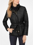 Packable Nylon Puffer Jacket, black