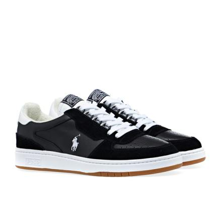 Polo Court PP Sneakers, black/white