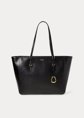 Saffiano Leather Tote: Medium, black