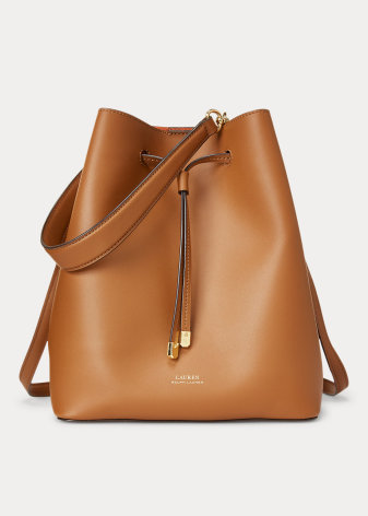 Debby Drawstring: Medium, tan/orange