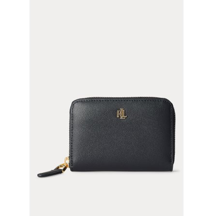 Dryden: Small Zip Wallet, black/crimson