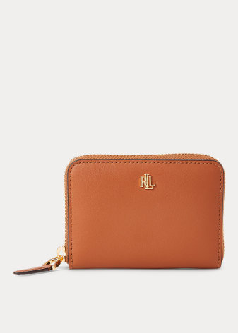 Dryden: Small Zip Wallet, tan/orange