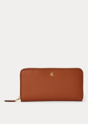 Dryden: Continental Zip Wallet: Large, tan/orange