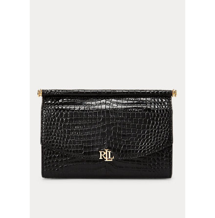 Prescott Clutch: Medium, Mini Croc Emboss black