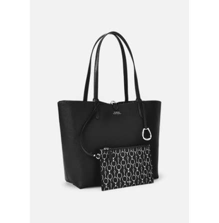 Reversible Tote: Medium, black/chain