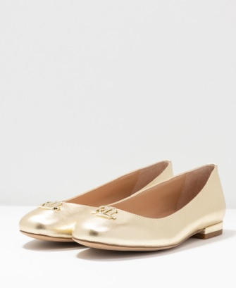 Gisselle Metallic Flats, pale gold