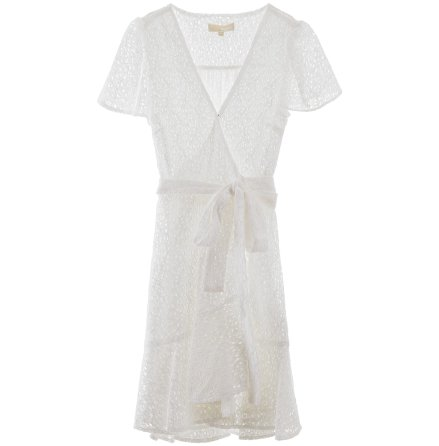 Lace Wrap Dress, white