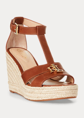Hale Espadrilles Wedges, deep saddle tan